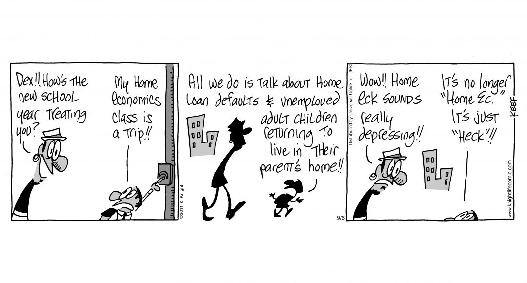 Cartoon - New Home Economics Class - kl110906